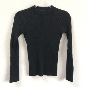 Storets Black Knit Long Sleeve with Gold Buttons